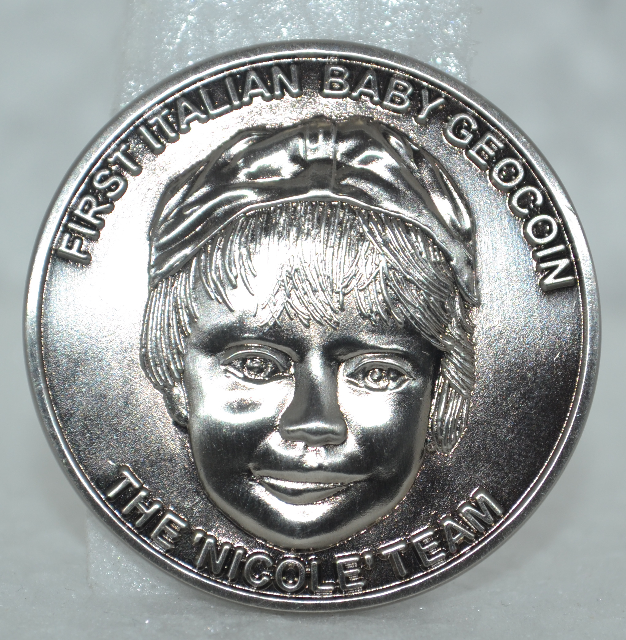 First Italian Baby Geocoin