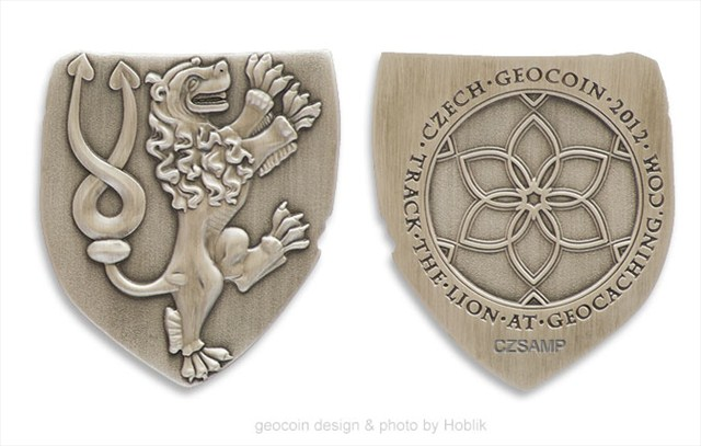 Czech 2012 Geocoin - antique silver