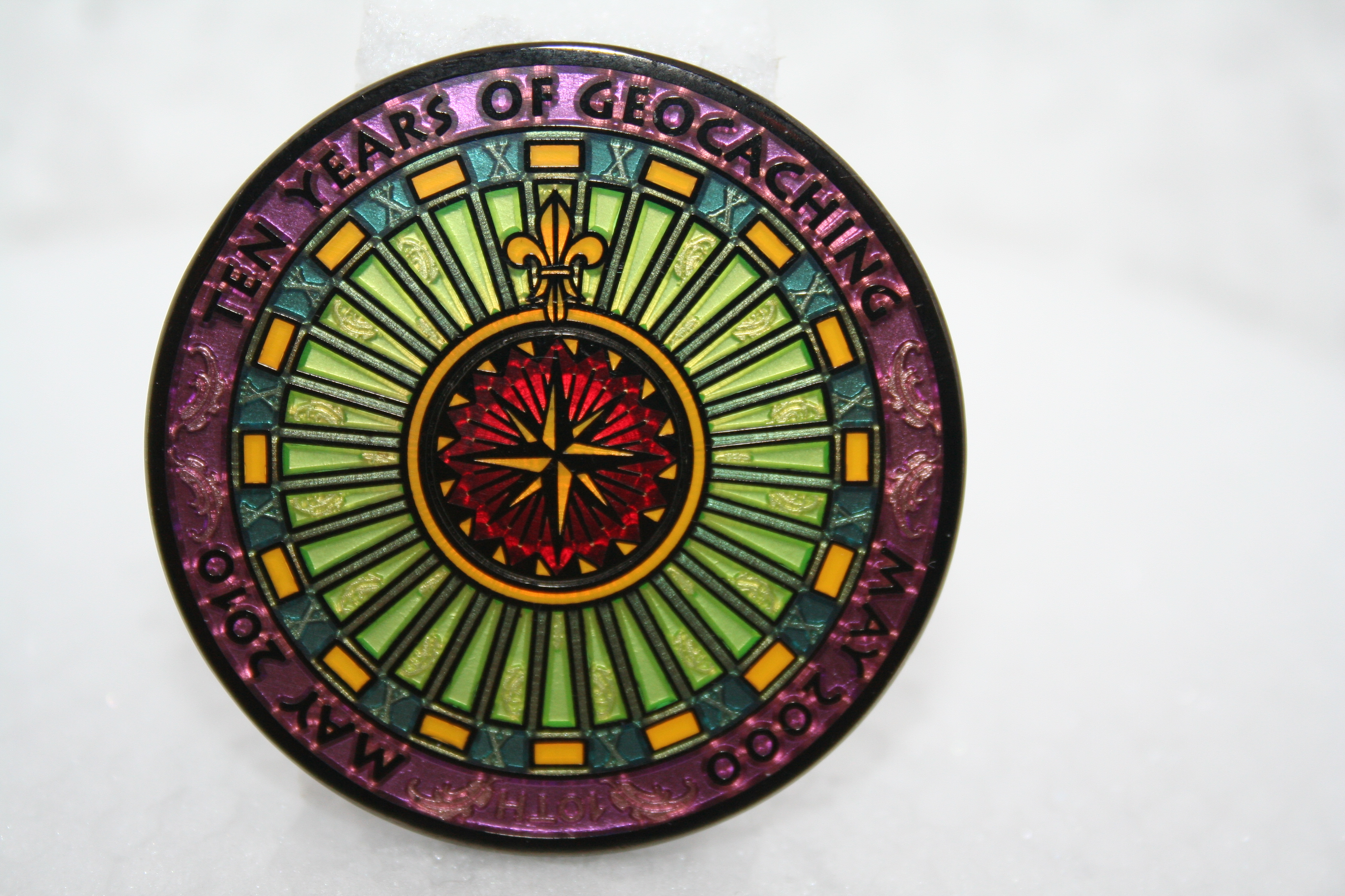 10 Years of Geocaching Multi Event Geocoin - Czech republic LE
