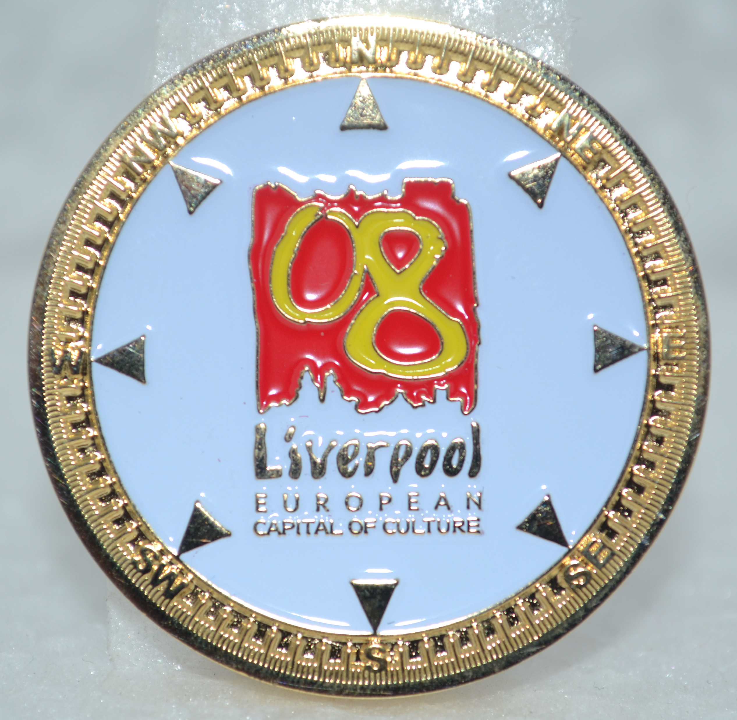 Liverpool 2008 Commemorative Coin - gold