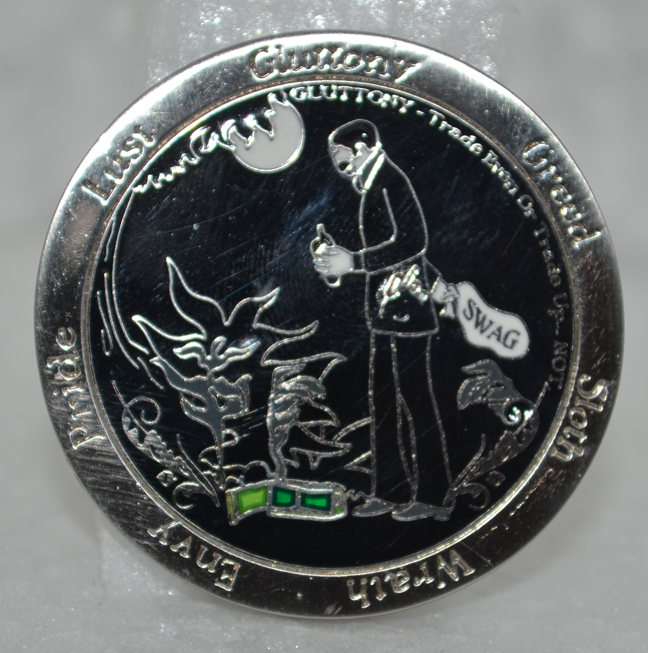 7 Deadly Caching Sins - Gluttony Geocoin