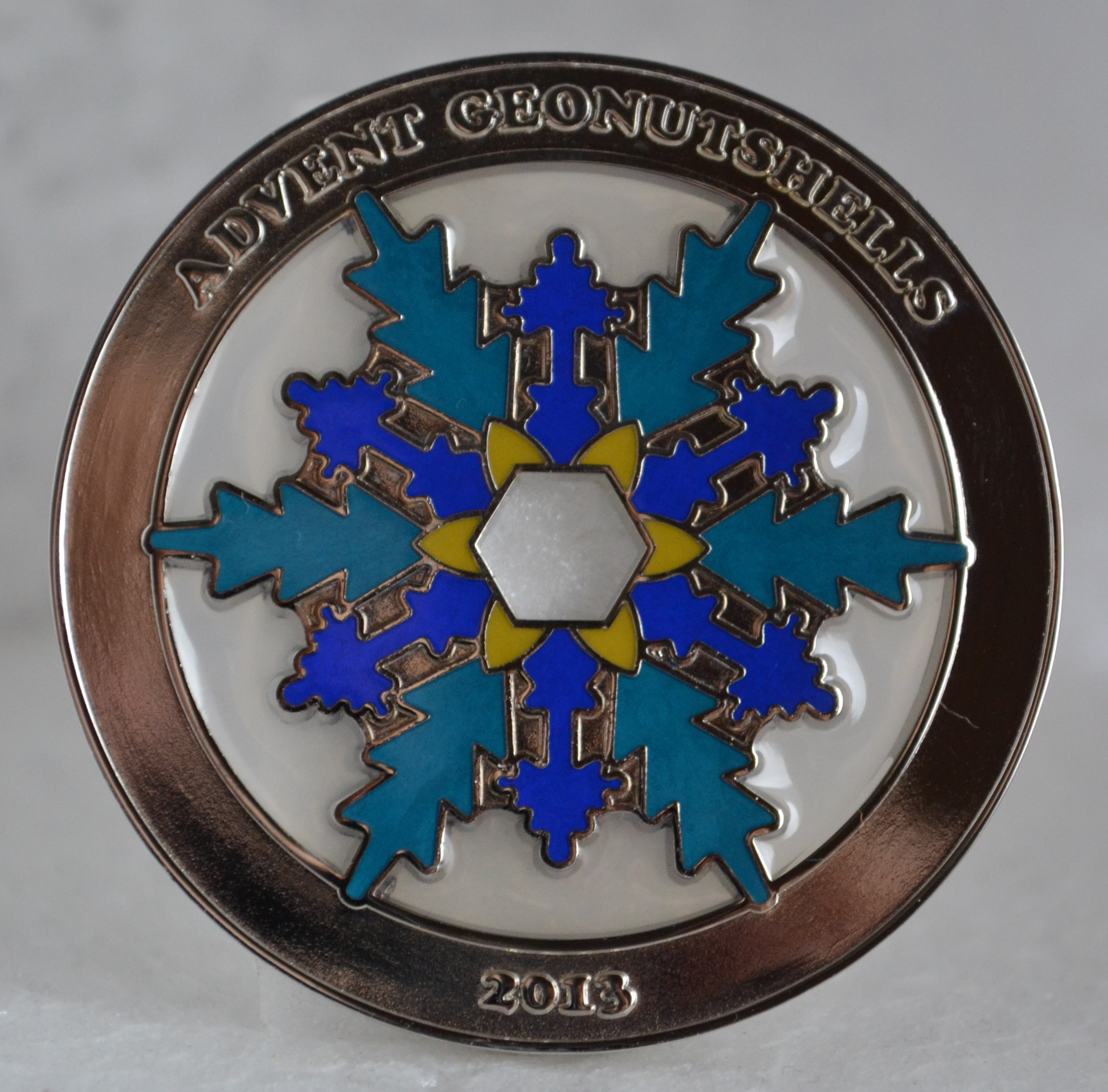 Advent Geonutshells 2013 Geocoin XLE