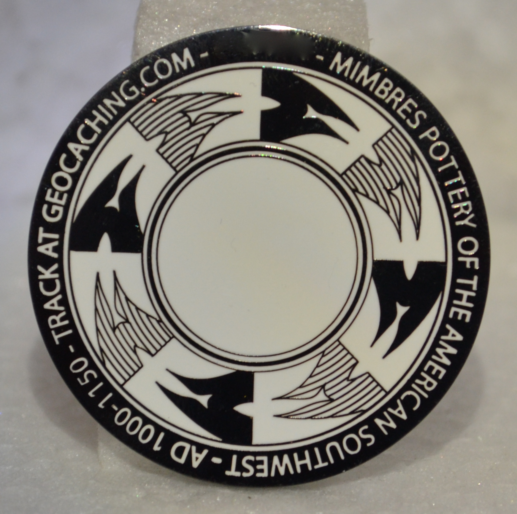 Mimbres 2.0 Geocoin - black nickel