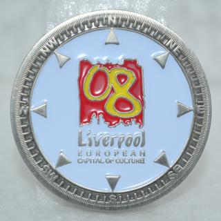 Liverpool 2008 Commemorative Coin - antique silver