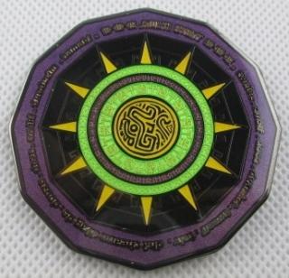 12-12-12 Multi Event Geocoin - Praha - black nickel
