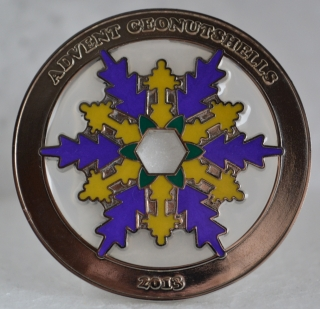 Advent Geonutshells 2013 Geocoin  - nickel