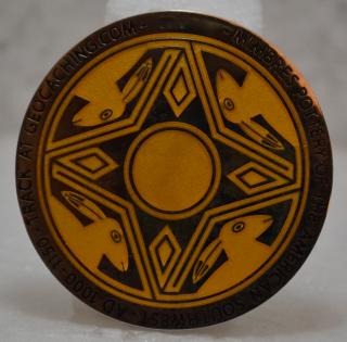 Mimbres 3.0 Geocoin - LE yellow