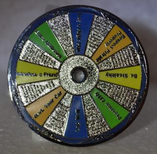 Geocaching Virtues Geocoin