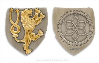 Czech 2012 Geocoin - LE two tone