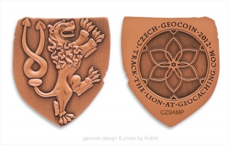 Czech 2012 Geocoin - antique copper